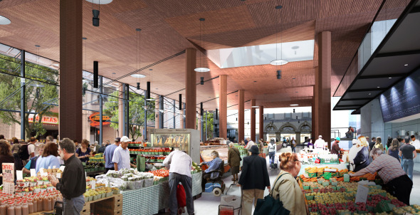 St Lawrence Market Redesign Yellow Concept Interior