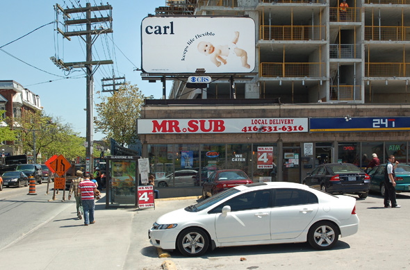 fauxreel hacked billboard toronto