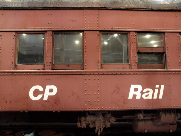 The side of the CP sleeper car
