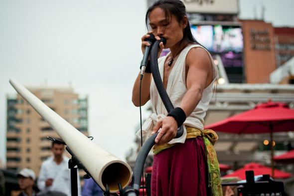 Toronto Street Busker Shibaten Didgeridoo Vacuum Hose