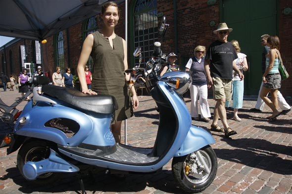Eco-Wheels show at the Distillery District