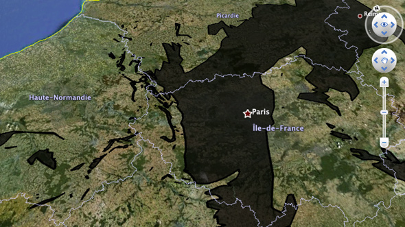 oil spill compared paris