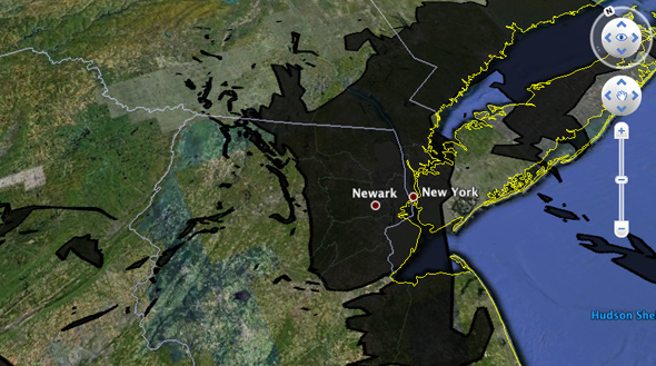 oil spill compared New York