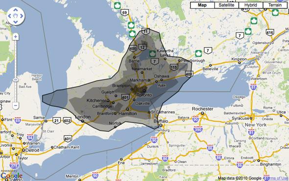 Gulf Oil Spill comparison map