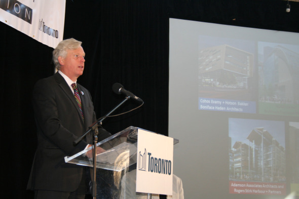 David Miller Speaking at the St Lawrence Market Annoucement