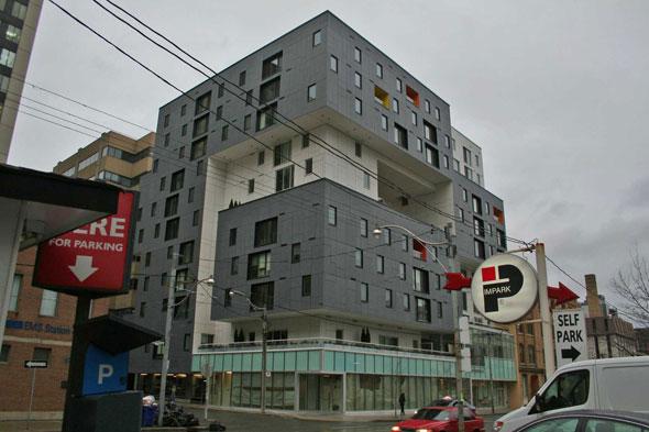 Strange Cube Building at 60 Richmond Street East