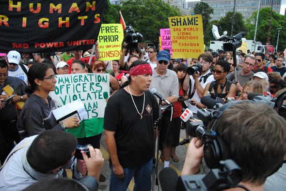 G20 Toronto protest Native