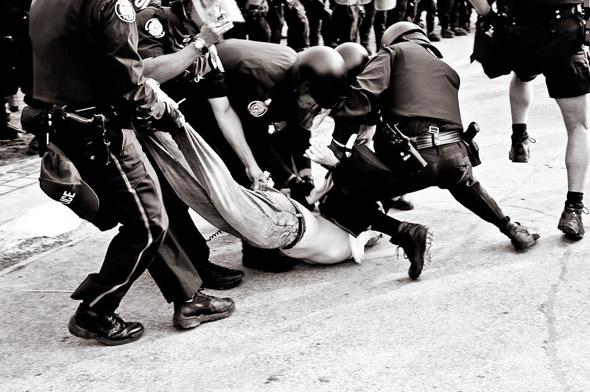 G20 police attack