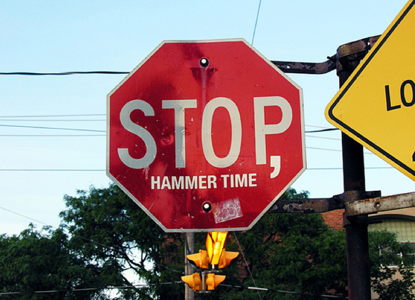 stop sign message