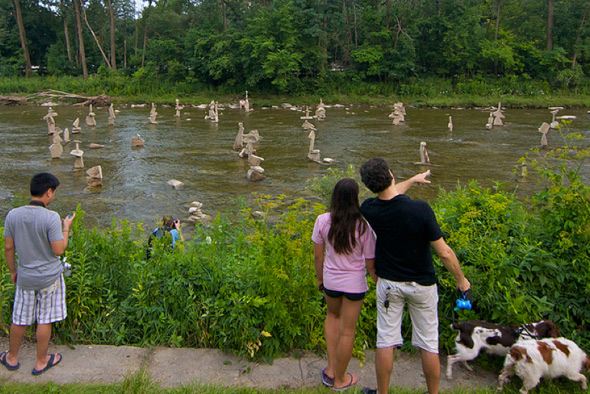 Humber River Rock Sculpture