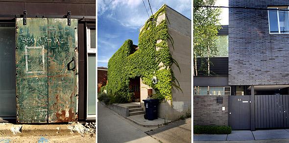 Laneway house triptych