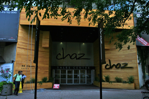 Entrance to Chaz on Charles
