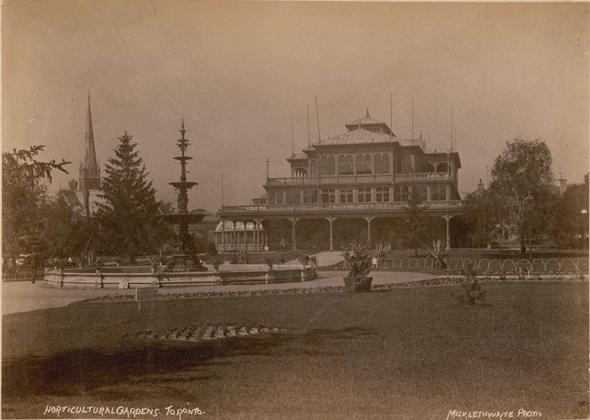 oscar wilde, toronto, 1880s, allan gardens, great pavilion