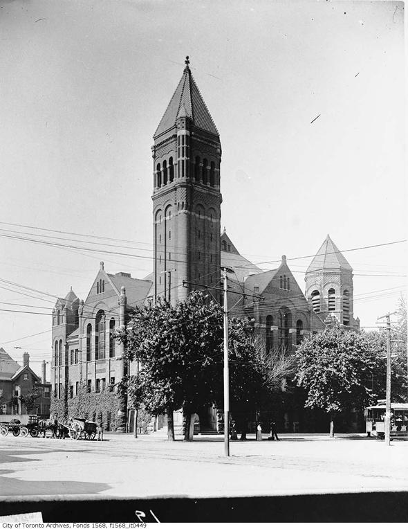 Broadway Methodist Tabernacle, College Street, Spadina Avenue, Toronto, 1910