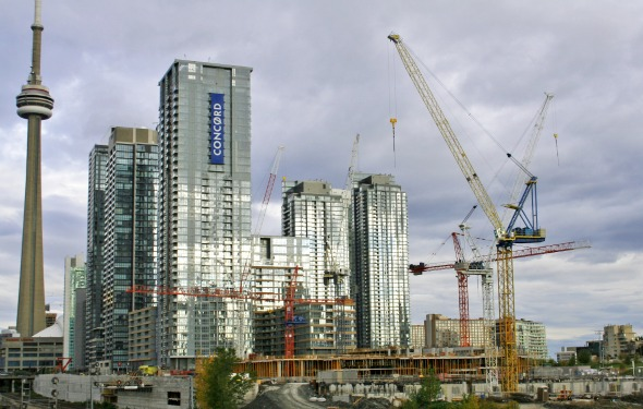 Cityplace Skyline from the Bathurst Street Bridge