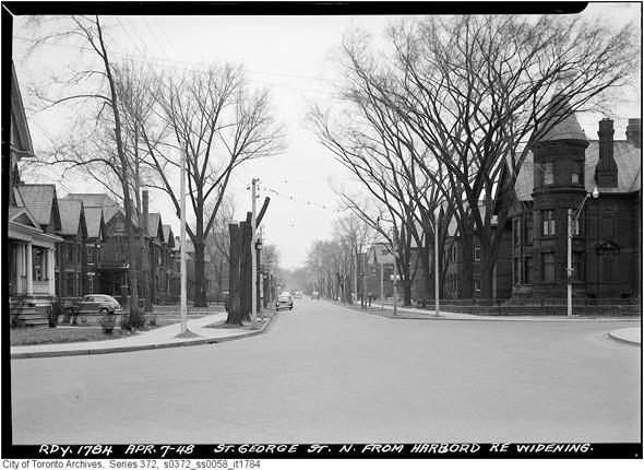 St. George Street, Harbord Street, Toronto, 1948
