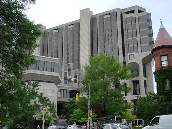 John P. Robarts Library, St. George Street, Harbord Street, Toronto