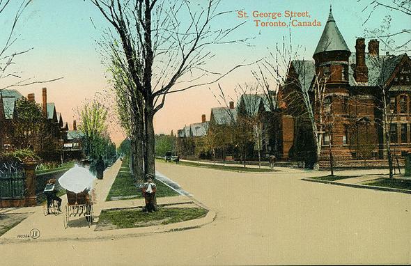 St. George Street, Harbord Street, Toronto, postcard