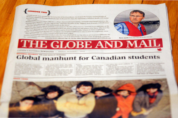Globe and Mail redesign