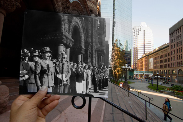 Toronto city hall past present