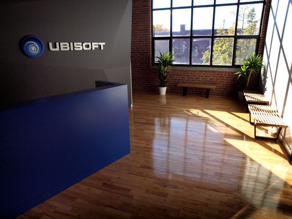 Reception area at Ubisoft Toronto