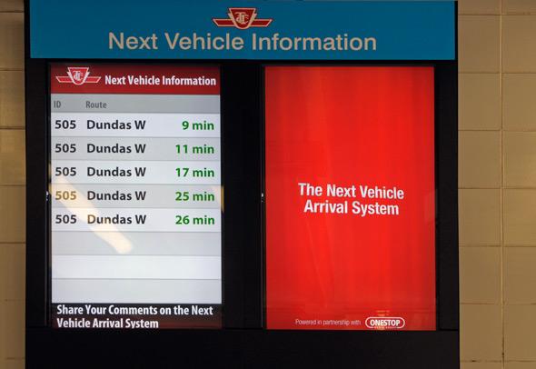 TTC Next Vehicle Screen