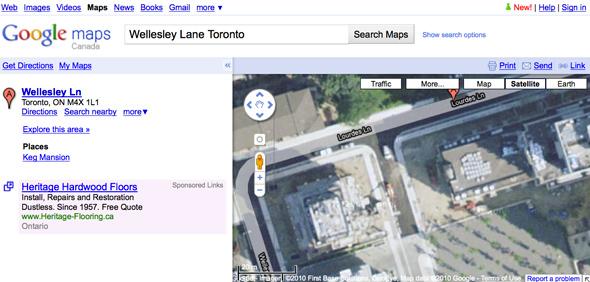 Google error wellesley
