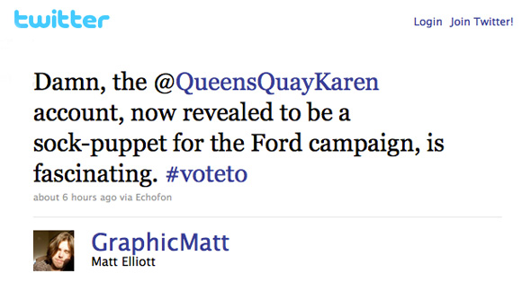 Rob Ford Fake Twitter