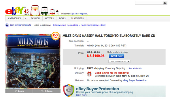 Miles Davis Toronto