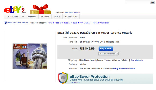 CN Tower Puzzle