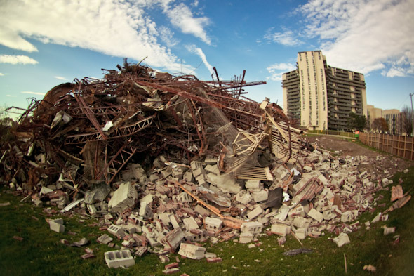 Toronto Apartment Demolition Pile