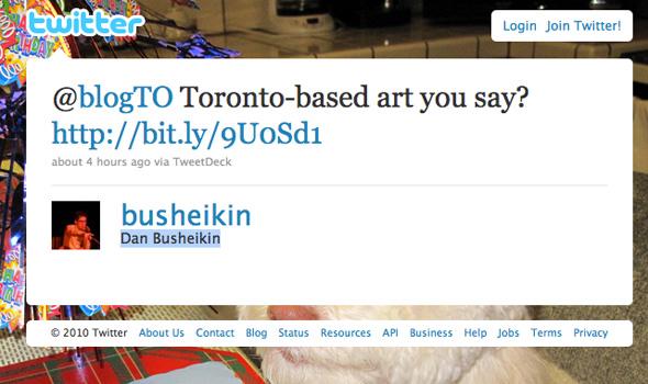 Twitter status Toronto