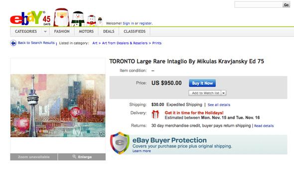 Ebay Art Toronto