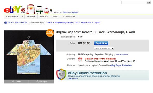 Origami Shirt Toronto