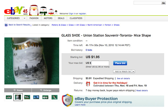 Toronto items on Ebay