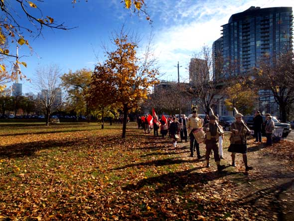 Parade to the Garrison cemetery at Fort York