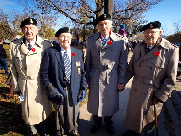 WW2 veterans at Fort York