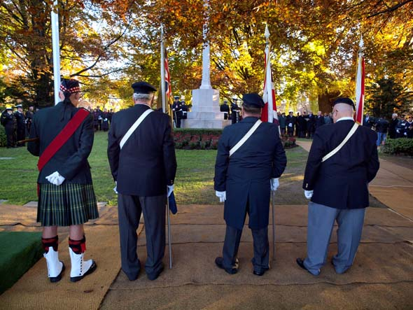 Colour guard at Prospect Cemetery