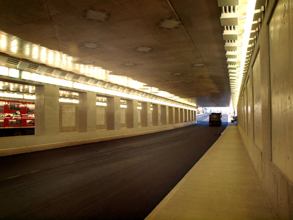 Inside the Dufferin underpass