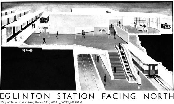 Eglnton TTC station rendering
