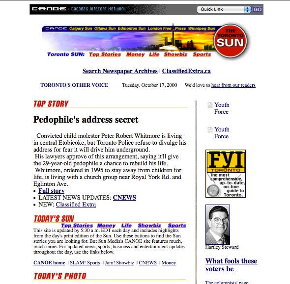 Toronto Sun web 2000