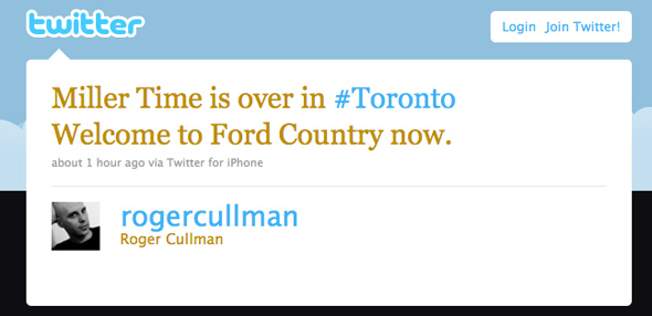Twitter Reaction Rob Ford