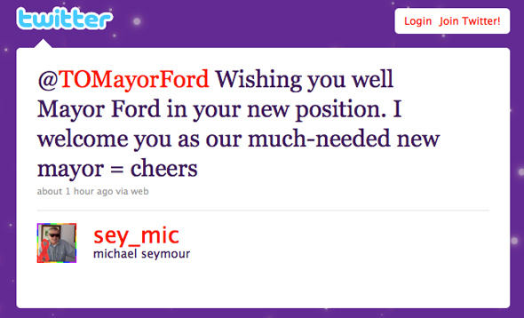 Rob Ford Reaction Twitter