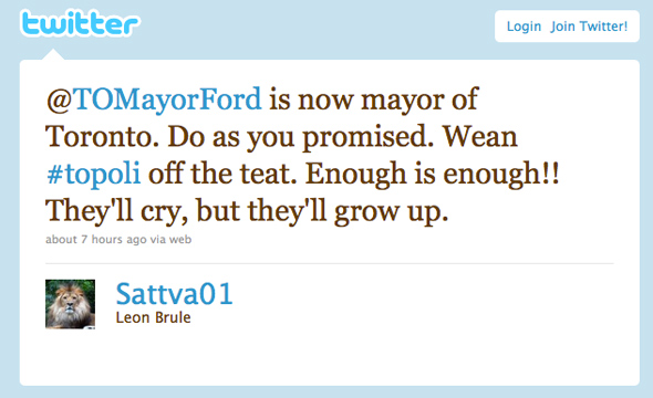 Rob Ford Twitter