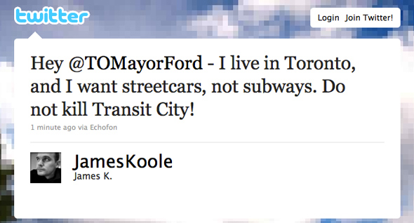 Twitter Rob Ford