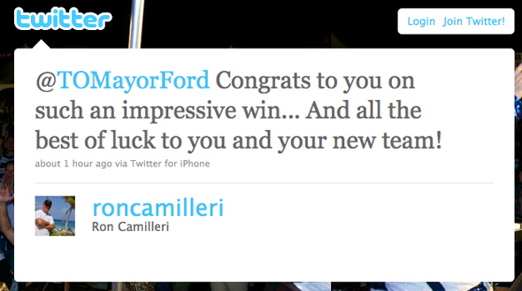 Rob Ford Mayor Toronto