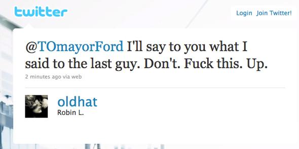 Twitter Toronto Mayor