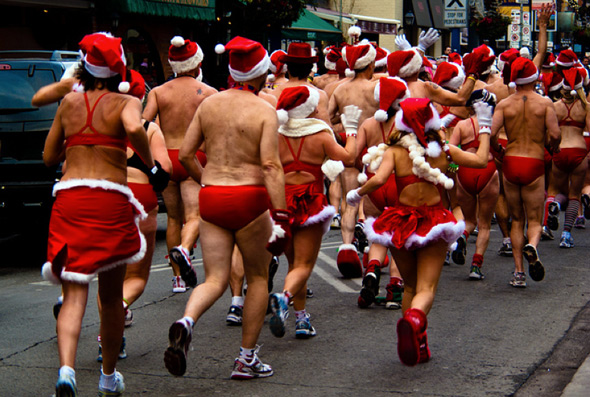 Toronto Santa Speedo Run