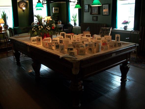 Toronto, 1920s, Christmas, the Austins, Spadina Museum: Historic House and Gardens, billiard table