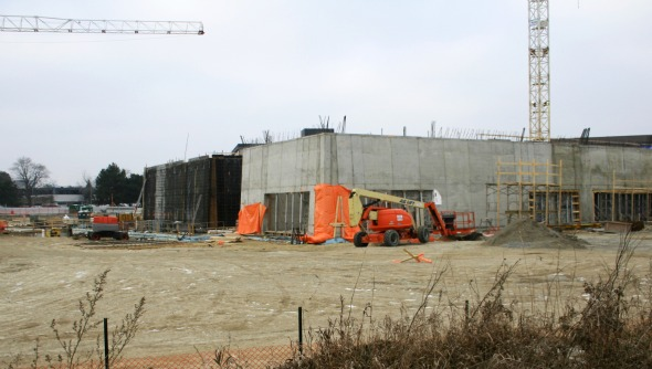 Construction of the Aga Khan Museum in Toronto